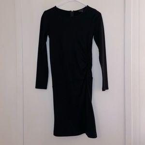 BLACK THEORY WOOL LONG SLEEVE DRESS SMALL